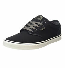 VANS Mens Atwood Leather Suede Black Shoes New Weather Protector Skater Trainers