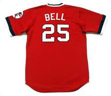 BUDDY BELL Cleveland Indians 1975 Majestic Cooperstown Throwback Baseball Jersey