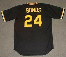 BARRY BONDS Pittsburgh Pirates Majestic Cooperstown Baseball Jersey