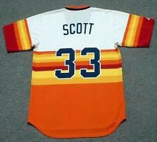 MIKE SCOTT Houston Astros 1985 Majestic Cooperstown Home Baseball Jersey