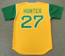 "JIM ""CATFISH"" HUNTER Oakland Athletics 1969 Majestic Cooperstown Baseball Jersey"