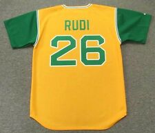 JOE RUDI Oakland Athletics 1969 Majestic Cooperstown Throwback Baseball Jersey