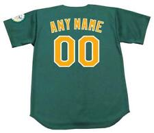 "OAKLAND ATHLETICS Majestic Throwback Alternate ""Customized"" Baseball Jersey"