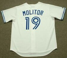 PAUL MOLITOR Toronto Blue Jays 1993 Majestic Cooperstown Home Baseball Jersey
