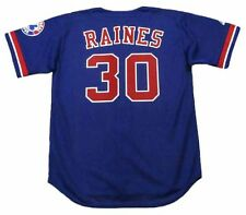 TIM RAINES Montreal Expos 2001 Majestic Throwback Baseball Jersey