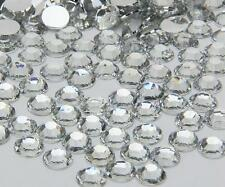 clear sparkling Resin Flatback Crystal Rhinestone  2,3,4,5,6,7MM 14 Facets