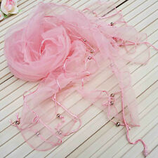 Fashion Stylish Charm Organza Nation Style Beads Tassel Scarf Shawl Wrap Stole