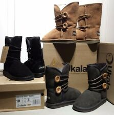 UKALA Big Kids GIRLS Amelia Low winter boots BROWN sizes 1,2,3
