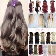 One Piece Clip in Synthetic Hair Extensions Long Wavy Curly Hair 5 Clips T85