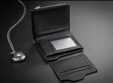 Men with detachable leather wallet, ID card holder's wallet