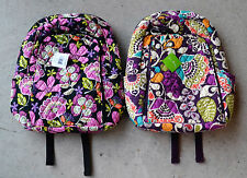 Vera Bradley Laptop Backpack XL Padded Campus Pink Pirouette Plum Crazy $109