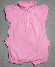 RALPH LAUREN INFANT GIRLS ONE PIECE PINK ROMPER NWTS SIZE 6/M AND 9/M
