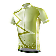 Yellow-Green Men's Cycling Jersey Tops Bike Bicycle Cycle Jersey Shirts S-5XL