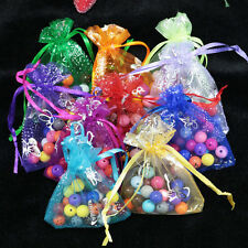 100pc 7X9cm Organza Gift Butterfly Pouches Wedding Party Favours Jewelry Bags