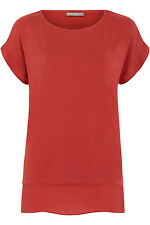 Ann Harvey Womens Orange Double Layer Top - Up To Size 28