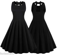 Women's Ladies Vintage Style 1950s Rockabilly Audrey Party Swing Skaters Dresses