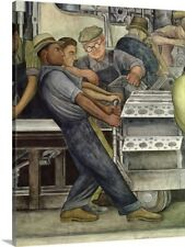 Detroit Industry, North Wall, 1933 by Diego Rivera Painting Print on Canvas