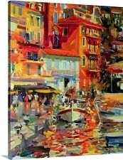 Reflections, Villefranche, 2002 by Peter Graham Painting Print on Canvas