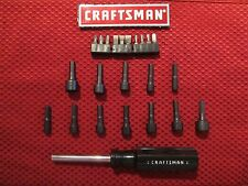 Craftsman 43373 Magnetic Hex Bit Nut Driver, Screwdriver with 22 Bits - NEW