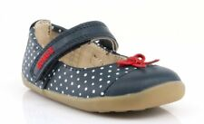 Bobux Step Up Swing Ballet Shoes in Navy and White Dots