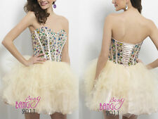 BeadedShort/Mini Cocktail Party Ball GownBridesmaidEvening Prom Dresses 6-16