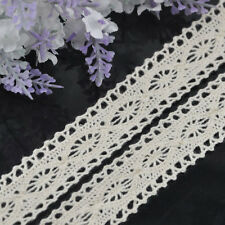 5/10Y 1'' White embroidered cotton trimming Appliques wedding craft cloth L106