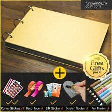 Blank Cover DIY Photo Album Scrapbook sticker diary gift memory love