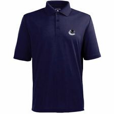 Vancouver Canucks Antigua Pique Xtra-Lite Polo - Navy - NHL