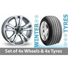 """4 x 15"""" Wolfrace DH Silver Alloy Wheel Rims and Tyres -  185/65/15"""