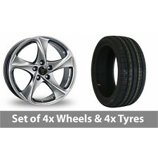 """4 x 16"""" Wolfrace Catania Shadow Chrome Alloy Wheel Rims and Tyres -  215/60/16"""