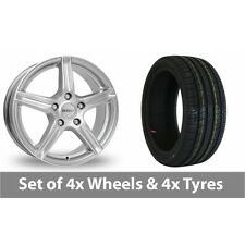 """4 x 15"""" Dezent Silver Alloy Wheel Rims and Tyres -  195/65/15"""