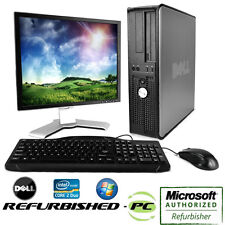Cyber Week Sale! Fast Dell Desktop Computer PC Core 2 Duo Optiplex Tower+LCD