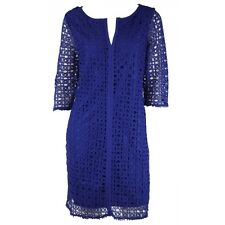 Nicol NEW Blue Crochet Lace Tunic Dress size 10 12 14 16