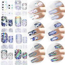 2016 Nail Art Stickers Water Decals Nail Transfers Wrap Flower Floral Leopard