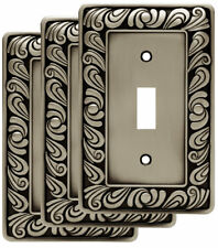 Franklin Brass Paisley Single Switch Wall Plate Set of 3