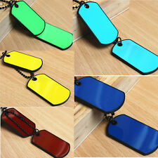 Newly Army Tactical Style Black 2 Dog Tags Chain Beauty Mens Pendant Necklace tp