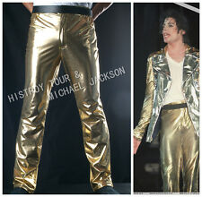Unisex King of pop Michael Jackson MJ uniform History golden pant