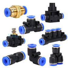 8 Types Various Pneumatic Fittings Air Water Hose Tube Connector Speed Joiner