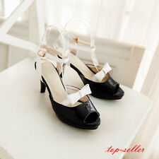 New Fashion bow-knot sweet women's shoes high slim heels peep toe korean style
