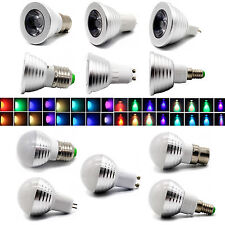 3W RGB Magic LED 16 Color Change Spot Light Bulb MR16 E14 E27 GU10 B22 GU53 Lamp