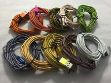 2x 3M 10 ft extra long braided USB cable data Charging cord For Samsung Galaxy