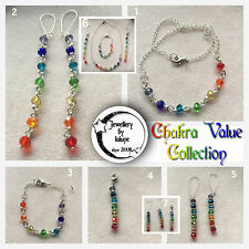 CHaKRa RaiNBoW 8MM FaCeTeD GLaSS CRYSTaL VaLue CoLLeCTioN  BRaCeLeT PeNDaNT ᵉᵗ.ͨ