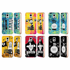 CUSTOM PERSONALISED 5SOS MIXED ICONS GOLD BUMPER SLIDER CASE FOR SAMSUNG PHONES