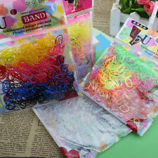 400-500 Pcs Elastic Hair Band Ponytail Holder Rubber Rope For Kids Girls BBUS