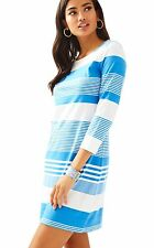 Lilly Pulitzer Marlowe T Shirt Dress, Coconut Stripe, Bay Blue, XS, M, L,XL, NWT
