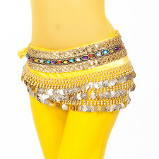New Belly Dance Costumes Hip Scarf Belt Chain 248pcs Golden Coins 10 Colors