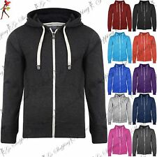 Kids Boys Girls Unisex Fleece Knit Hoodie Zip Up Hoody Sweatshirt Age 7-13 Years