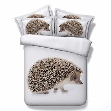3D Bedding Quilt Doona Duvet Cover Bed Sheet Pillowcases Set King -PorcupineCute