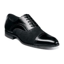 Stacy Adams mens shoes Sedgwick Cap Toe Oxford Suede Leather Black  25069-001