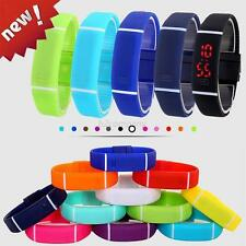 Soft Silicone Rubber LED Sport Watch Bracelet Band Touch Digital Wrist Watches